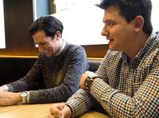 Ed y José Antonio durante la entrevista