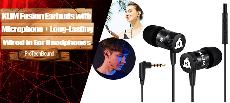 KLIM Fusion Earbuds Long-Lasting Wired Ear Buds