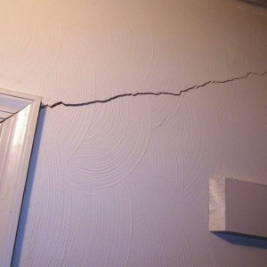 Foundation Failure - Drywall Crack