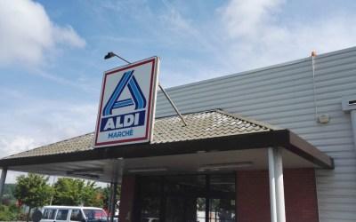 Nettoyage des façades magasin ALDI