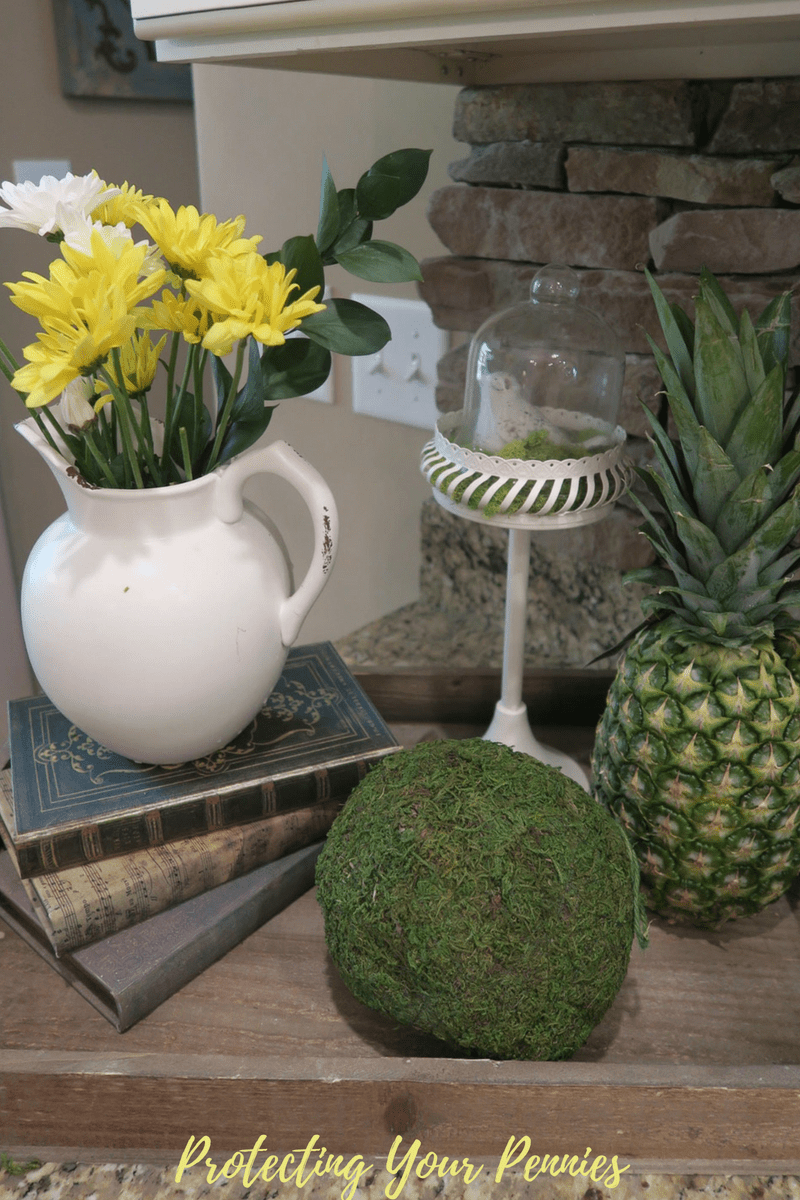Spring Tray Vignette with Pineapple
