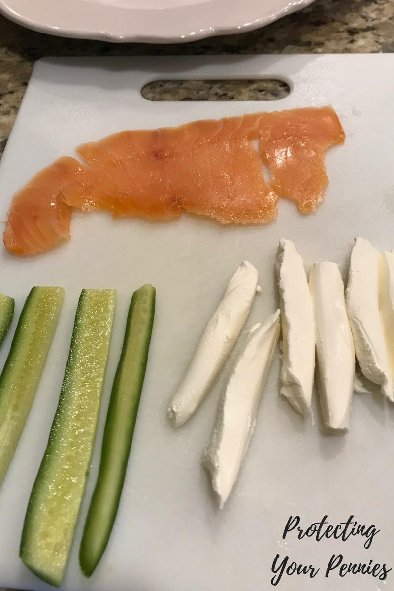 Smoked Salmon deconstructed keto sushi