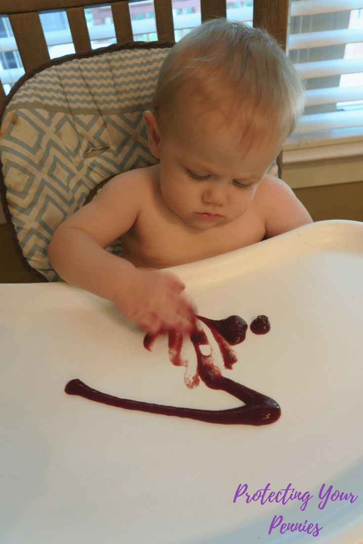 Baby Playing with Food