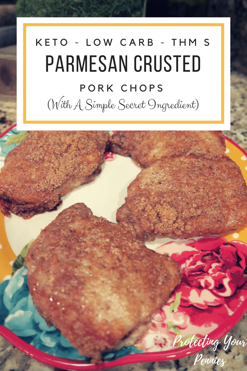 KETO - Low Carb - THM S Parm crusted pork chops
