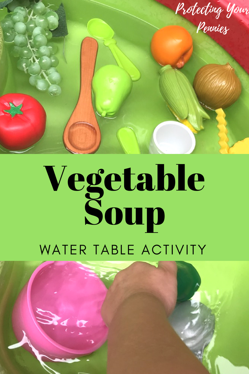 Vegetable Soup Water Table Play