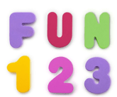 ABC 123 Foam Bath Tub Letters for a Stocking Stuffer for Toddler
