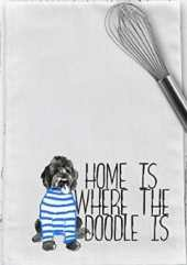 Home is Where the Doodle IS Tea Towel
