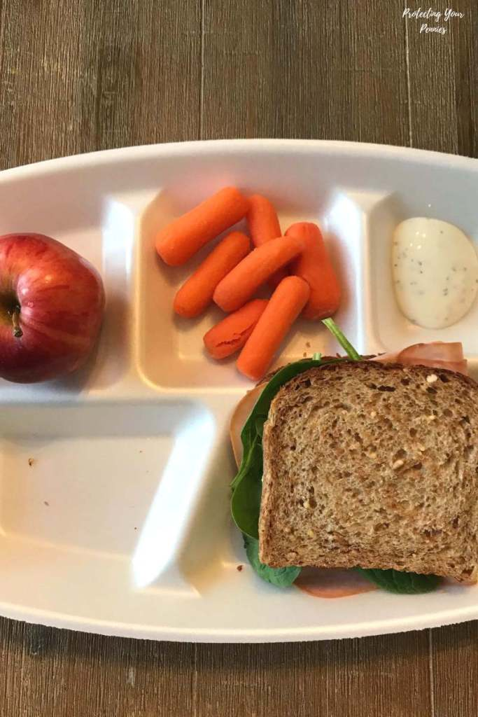 Sprouted Bread Sandwich Apple and Carrots