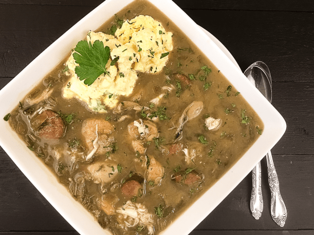 Seafood Gumbo with Cauliflower Rice Salad