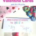Nail Polish Valentine Cards for Girls - Fun for Class Parties and Friends for a bright and colorful V-Day