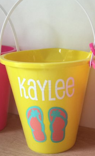 Beach Sand Pail for Easter