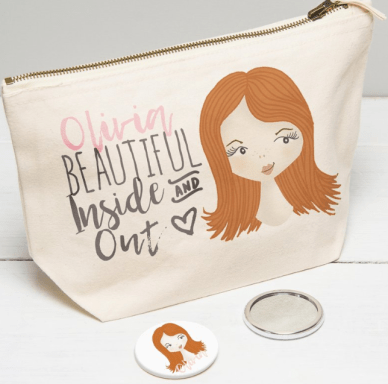 Makeup bag & mirror Etsy