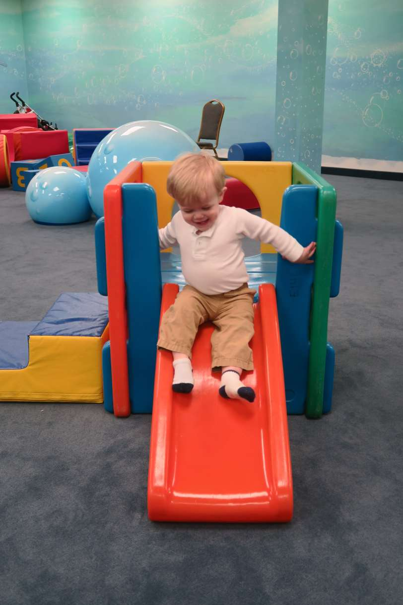 Playground in Toddler Room at Creation Station in Bellevue Baptist Church