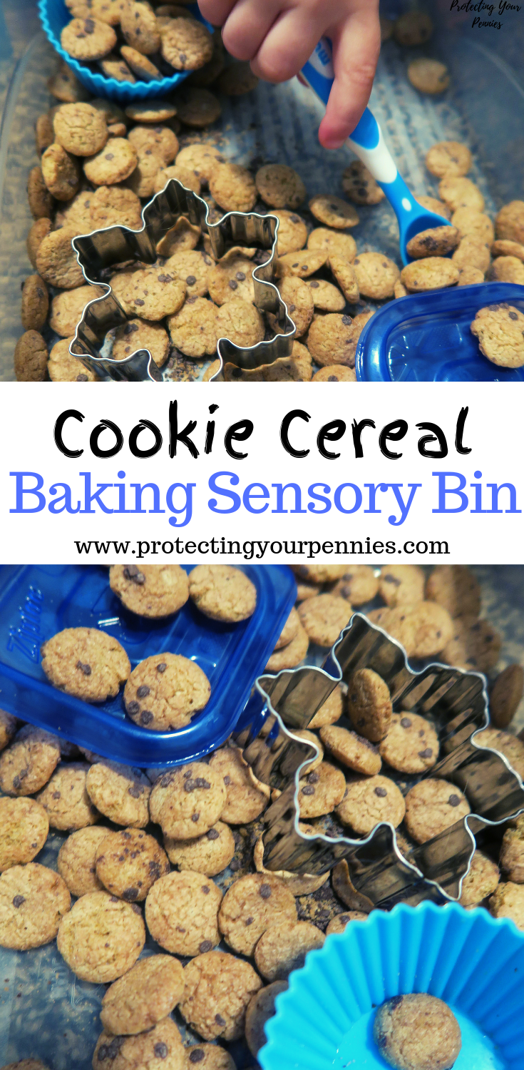 Cookie Cereal Baking Sensory BIn for Toddlers and Preschool Play