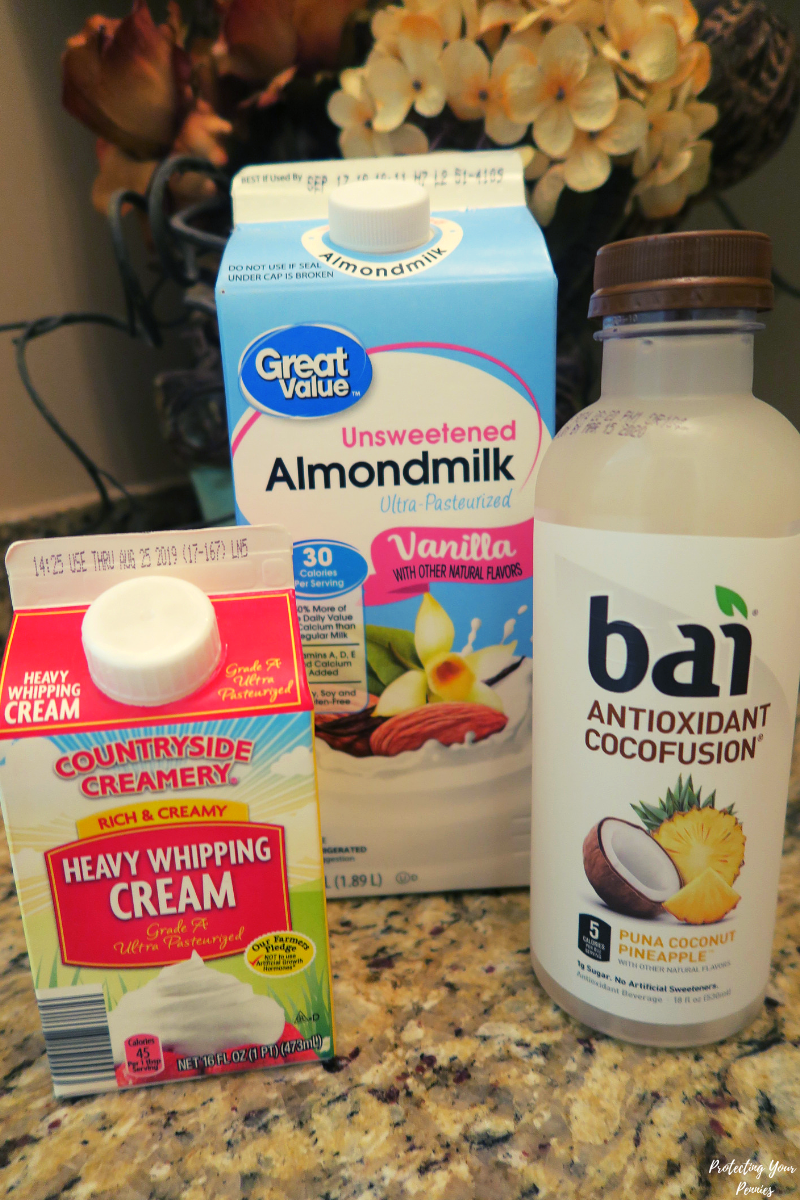 Keto Bai Pina Colada Drink Ingredients
