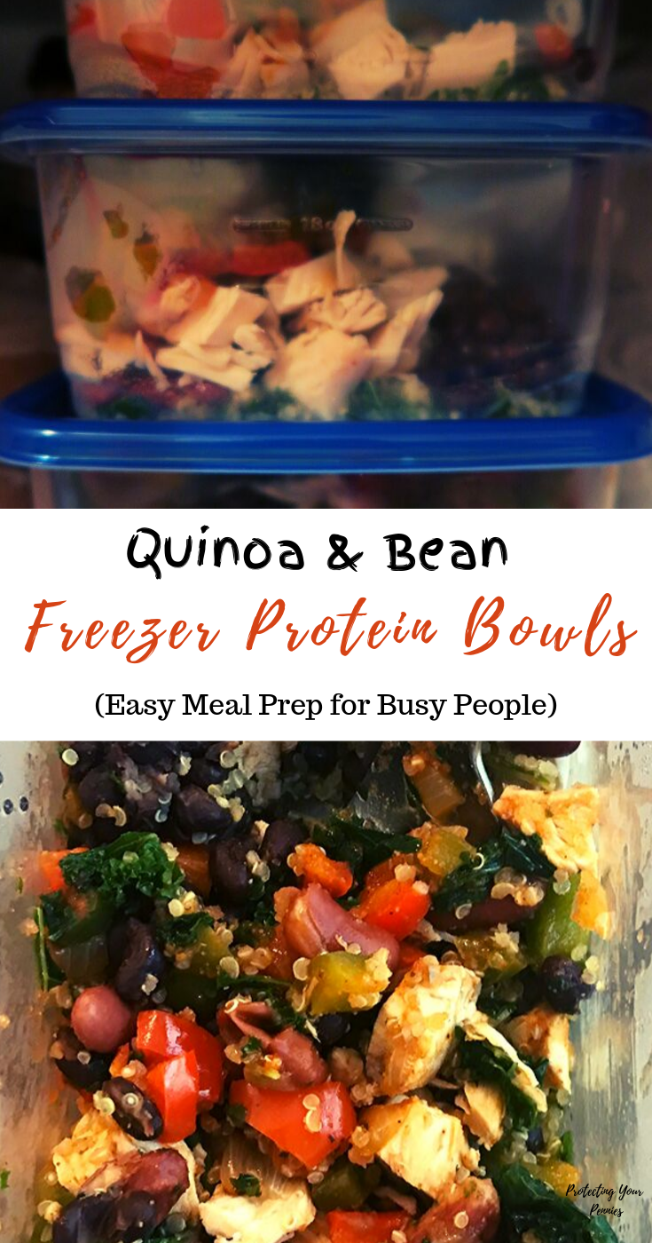 Quinoa and Bean Frozen Dinners for Busy Moms