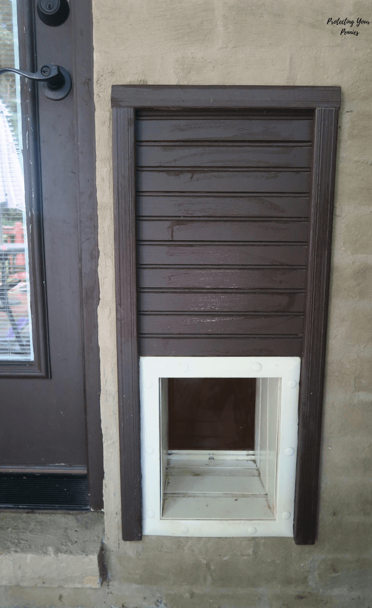 Exterior View of High Tec Pet Dog Door Installation