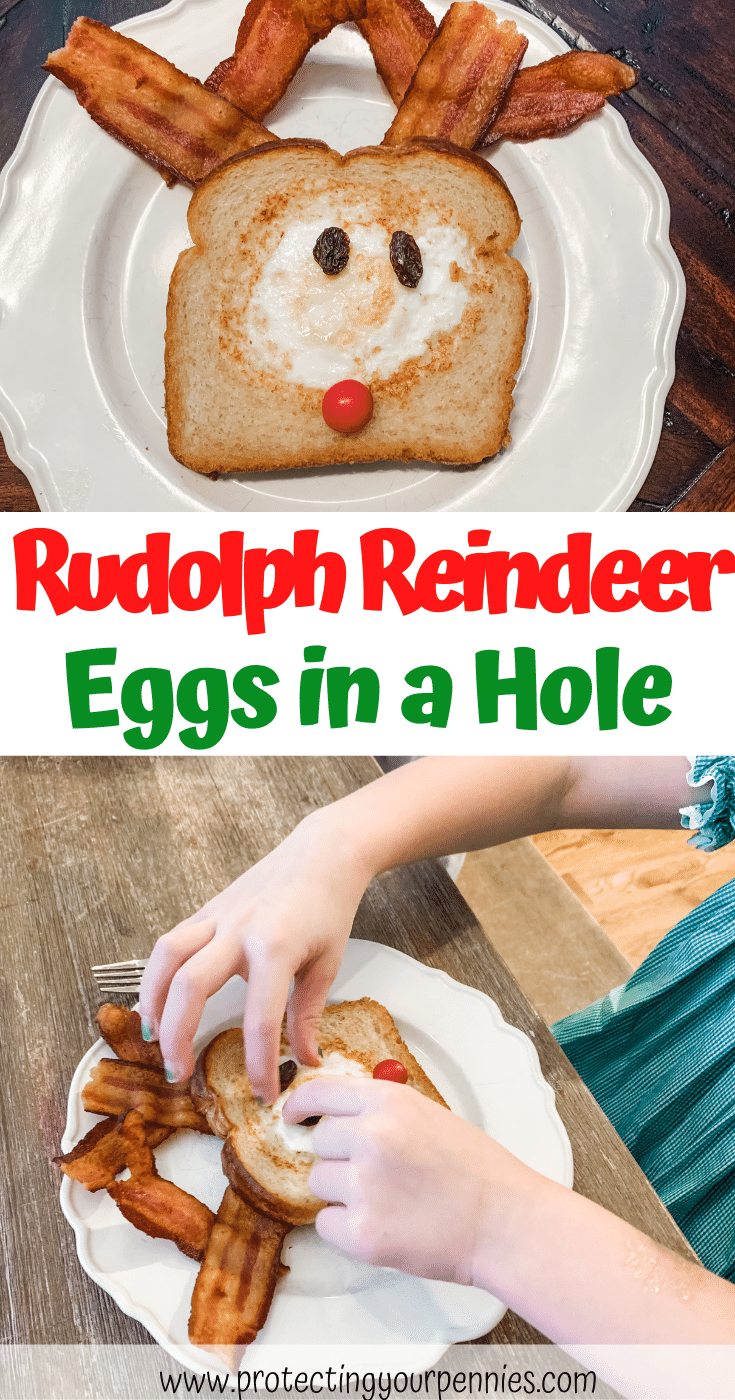 Rudolph Reindeer Eggs in a Hole