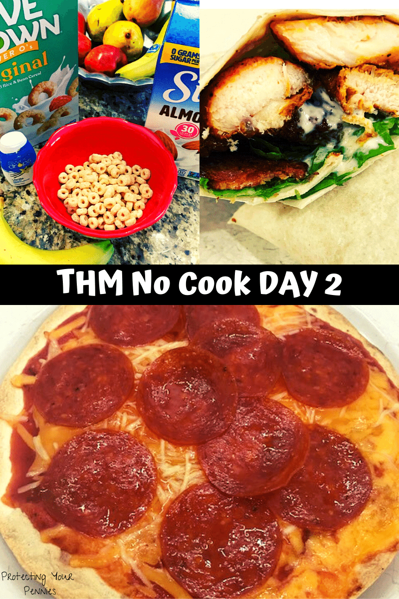 THM Easy Meal Plan Day 2 No Cook