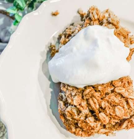 Baked Oatmeal Sugar Free with Greek Yogurt