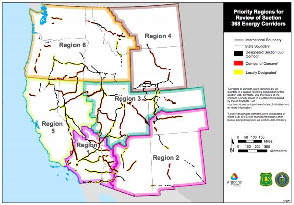 PM Energy Corridors on public land