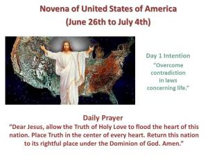 Novena of USA Day 1