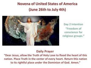 Novena of USA Day 2