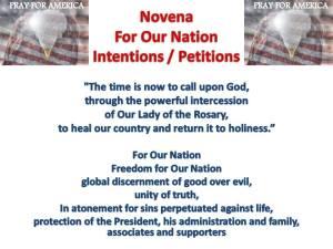 Novena Intentions