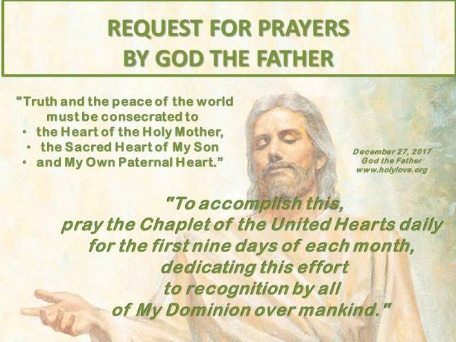 Request by God the Father for UH Novena