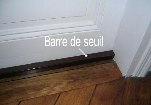 Poser une barre de seuil decobrico for Seuil de porte pour parquet
