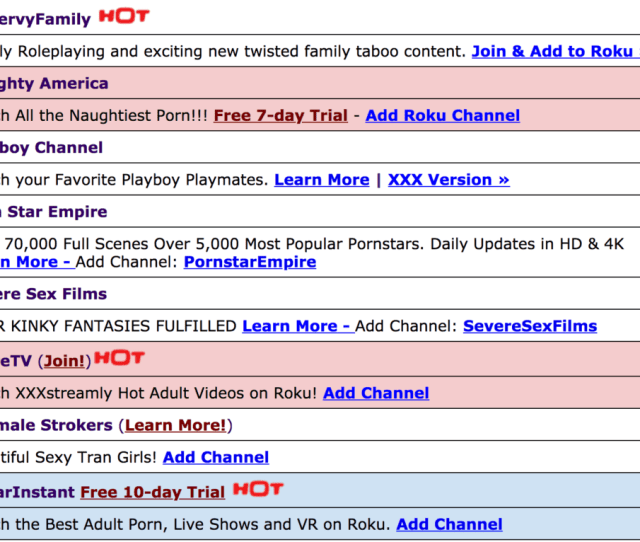 Roku Adult Channels