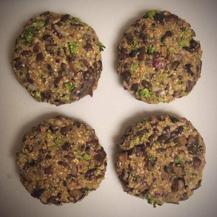 Black Bean Mushroom Burger Patties, Uncooked