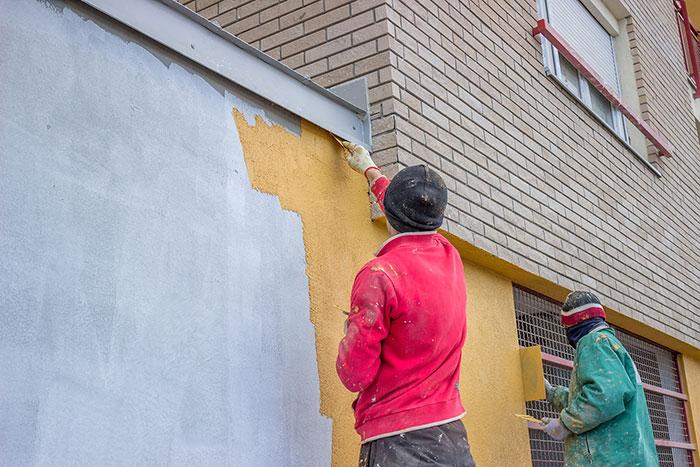 wintertime painting job