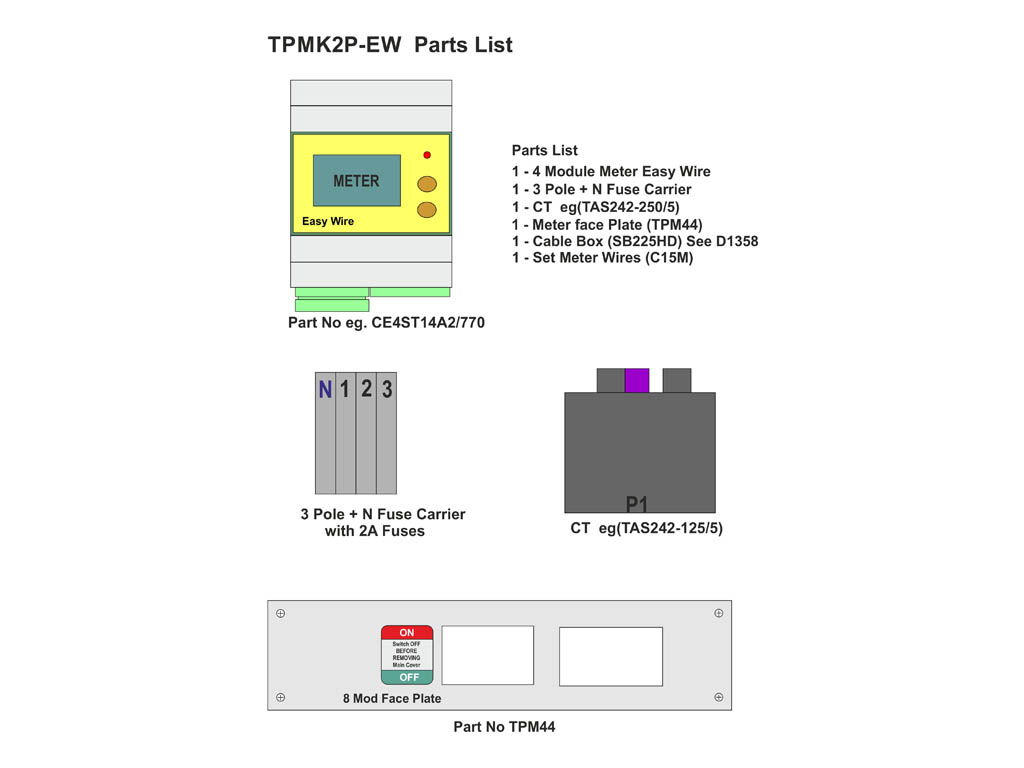 Multi Function Metering Kit For B Type Boards With Ct