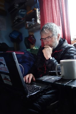 George Divoky at work in the Arctic. Image Credit: Mike Morrison