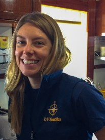 As the Vice President of Exploration and Science Operations for the Trust, Dr. Nicole Raineault works with the Nautilus team's extended network of scientists to organize and plan the science objectives of the cruises. As an Expedition Leader she facilitates seeing those plans through on board the vessel. Image Credit: Jenny Woodman