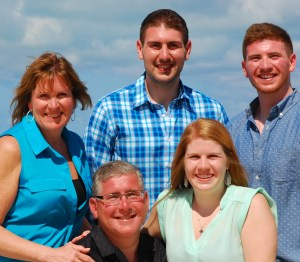 Here's Carol (Left) with her husband, Jim, and three kids James, Carly and Jack in Turks and Caicos on vacation last year.