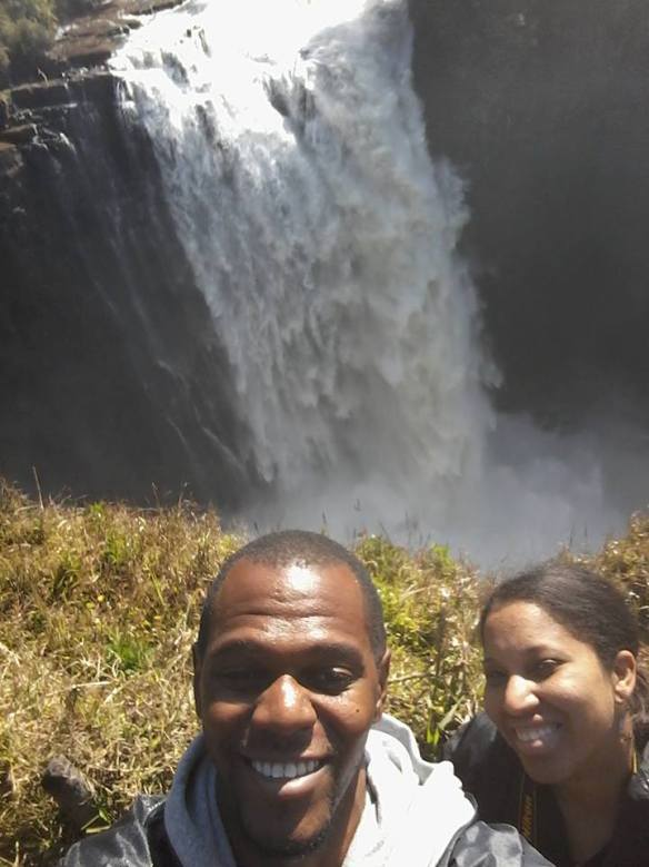 My husband and I, enjoyed our time in Zimbabwe.  Here is a picture of us at Victoria Falls.  This is our first time seeing one of the 7 natural wonders of the world!