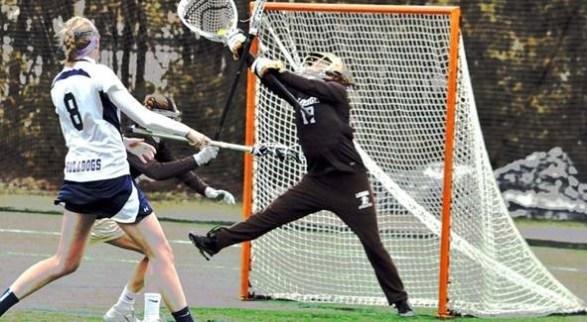 Alex in goal for Lehigh University