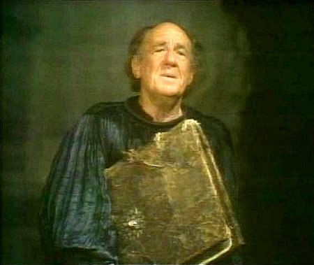 Michael Hordern as Propero... with a prop book again