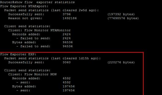 Netflow Exporter Statistics