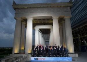Foto de familia de la Cumbre de la Otan 2012 en Chicago