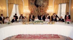 Mesa del banquete de bodas de SAR Dª Cristina de Borbón