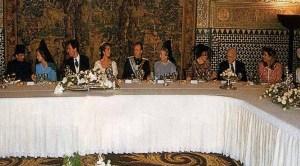 Mesa presidencial en el banquete de bodas de SAR la Infanta Dª Elena