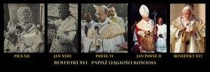 Los últimos Papas luciendo el fanón
