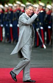 Carlos de Inglaterra en la boda del Príncipe de Asturias