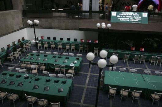 Centro de Prensa preparado para la Toma de Posesión de Peña Nieto