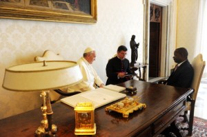Pope Francis Meets Mozambique Prime Minister Alberto Vaquina