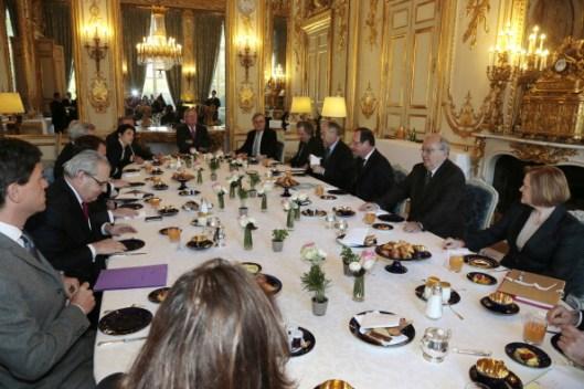 Desayuno de trabajo de Hollande
