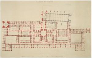Plano del Palacio de Westminster